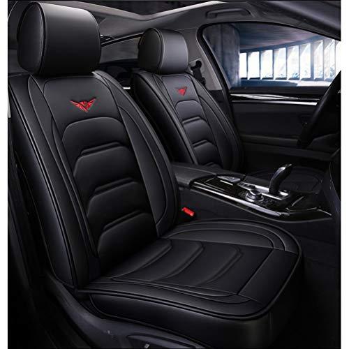 Funda asiento coche Funda de asiento de coche negra Juego completo de cuero PU impermeable for Audi