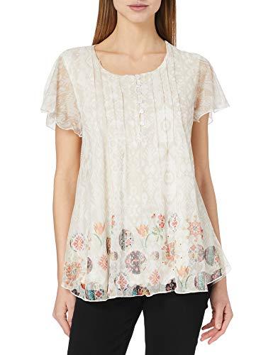 Desigual TS_Norte T-Shirt, Bianco, S Donna