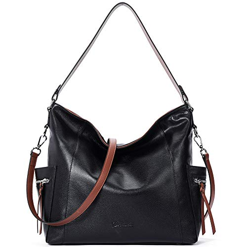 """High Quality -- The hobo handbag is made of genuine cow leather by professional artisans.The brown durable fabric lining with custom silver hardware that make the handbag more luxury, generous and elegant. Dimensions -- (L)14.57"""" x (W)4.92"""" x (H)12.9..."""