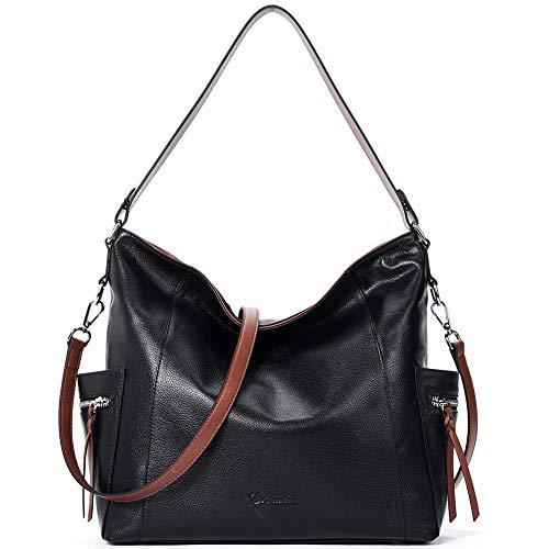 BOSTANTEN Genuine Leather Hobo Handbags Designer Shoulder Tote Purses Crossbody Large Bag...