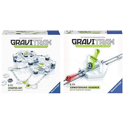 GraviTrax 27590 Starter Set Konstruktionsspielzeug, deutsche Version & 27592 Hammerschlag Konstruktionsspielzeug
