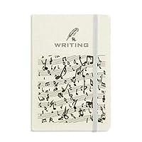 緑の複数の音楽5-leスタッフ ノートブッククラシックジャーナル日記A 5を書く