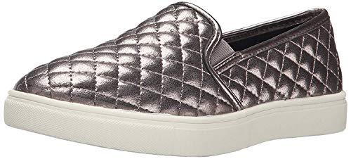 Steve Madden Girls JECNTRCQ Sneaker, Pewter, 3 Little Kid