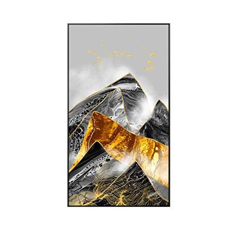 MuralMapamundi5Partes Modern Mountain Sky Nature Landscape Lienzo Póster Impresión De Gran Tamaño Arte De La Pared Sala De Estar Dormitorio Abstracto 50X70Cm Sin Marco
