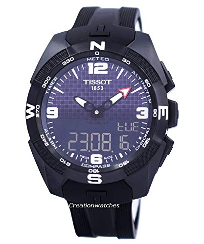 Tissot t-Touch Expert t091.420.47.057.01schwarz Zifferblatt Gummi Solar Herren-Armbanduhr