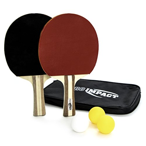 Great Features Of Pro Impact Table Tennis Ping Pong Sets Paddles, net, Balls and Cover (2 Paddle Bat...