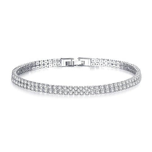 JIANYUXIN Armband Zirkonia Tennis Armband Und Armreif Gold Silber Damen Armband Braut Hochzeit Party Schmuck
