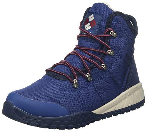Columbia Men's Fairbanks Winter Boot, Blue Carbon Red Jas, 40