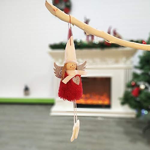 FJX Csfssd Árbol de Navidad y adornos decorativos de Navidad Piezas colgantes de angelitos Colgantes piezas...