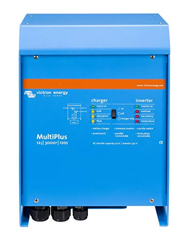 Victron Energy MultiPlus 3000VA 12-Volt Pure Sine Wave Inverter 120 amp Battery Charger