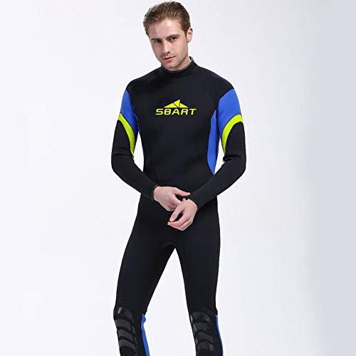 NCBH Wetsuit Mannen Zwemkleding Surf Kleding Duiken Pak Houd Warm Koude Weerstand Slim Fit Eenvoudig Te Draag Off Zonnebrandcrème Geschikt voor Outdoor 3MM