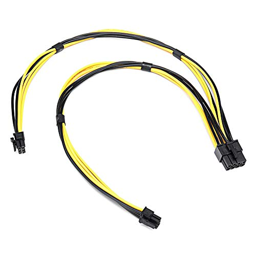 Classicoco PCI-E Male 18AWG Dual Mini 6-8 Pin Power Cable 1 piece