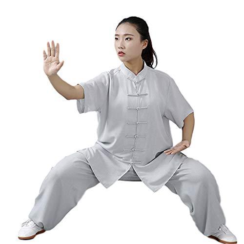 BBLAC 2KEY Artes Marciales Ropa | Unisex Traje para Tai Chi y Meditación | Tradicional Chino Uniforme Está Hecho (M,C)