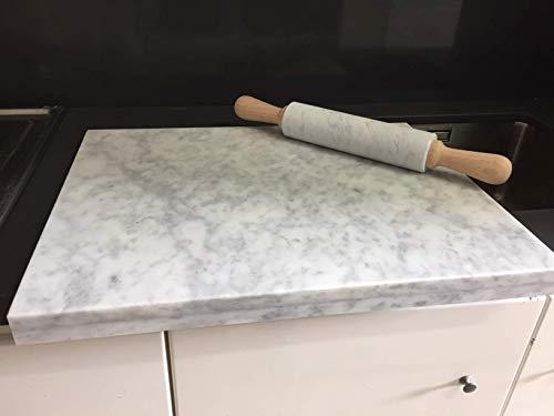 base e mattarello in marmo bianco carrara CON REGALO IN OMAGGIO SHAMPOO ISCHIA