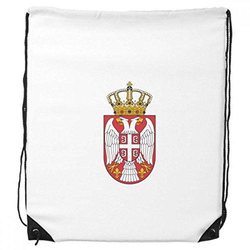 Serbien Europa National Emblem Kordelzug Rucksack Shopping Handtasche Geschenk Sporttaschen