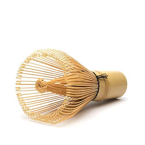 aoory Original Matcha Bambusbesen mit 100 Borsten Handgefertigt für Einsteiger Hand Kunstvoll Geschnitten viel Sorgfalt