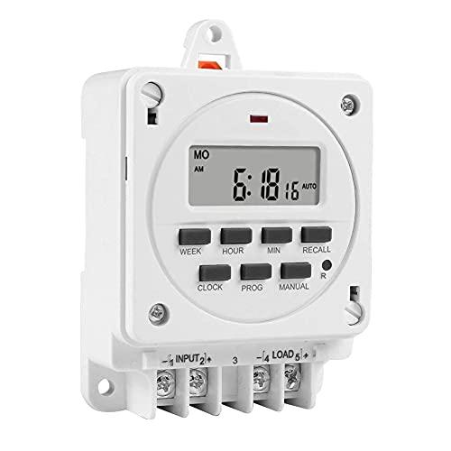Temporizador Interruptor Smart 16A 12V Semanal Time-Controlled Digital Power Controller TM618E Practic