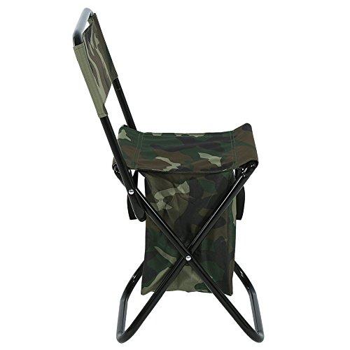 bizofft Höhe 38cm Camouflage Bequemer Campingstuhl im Freien, klappbarer Angelstuhl, Klappstuhl für den Außenbereich