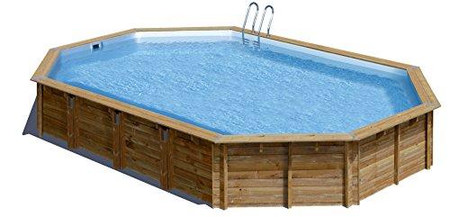 Piscina de madera GRE ovalada Avila Wooden Pool GRE 790092