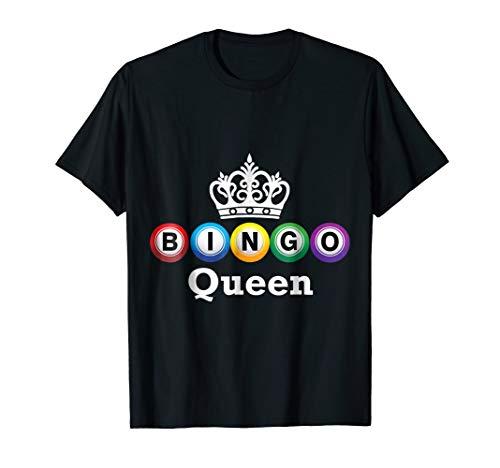 Bingo Queen Tshirt Players Fill in Bingo Card to Win Prizes
