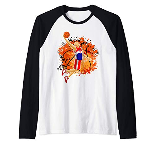 Croatia Basketball Team Croatian Flag Slam Dunk Sport Lover Raglan