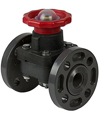 Spears 2723-025 PVC Schedule 80 Diaphragm Valve, Flanged, EPDM, 2-1/2-Inch from Spears