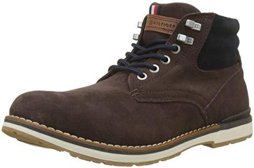 Tommy Hilfiger Herren Outdoor Suede Combat Boots, Braun (Coffee Bean 212), 40 EU