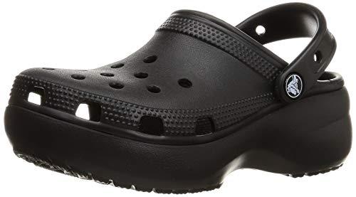 Crocs Damen Classic Clog   Platform Shoes Holzschuh, schwarz, 39 EU