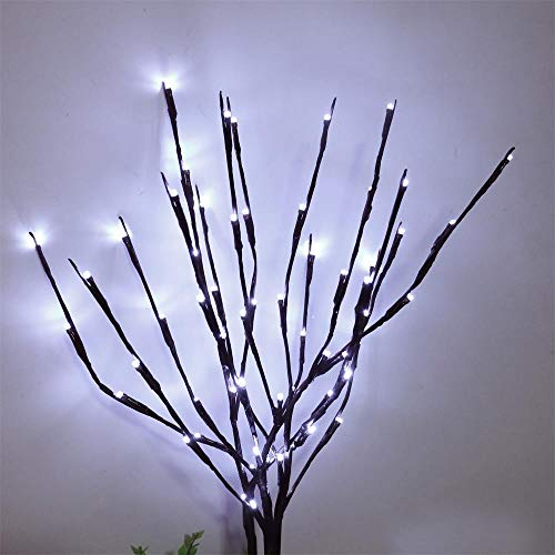 AMARS 2 Pack Decorative LED Lighted Branch Lights Battery Operated Bright White Home Artificial Branches Decoration for Living Room, Vase, Bedroom, Room (29.5 Inches, 20 LEDs)