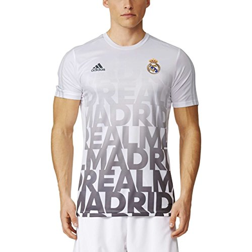 Adidas - Maillots - T-shirt d'echauffement Real Madrid Domicile - White - XS