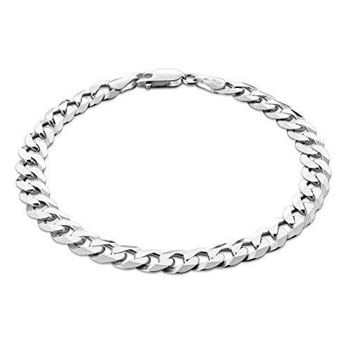 STERLL Herren Armkette Silber Echt 21cm Geschenkverpackung Männer Geschenke