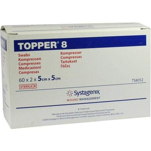 Topper 8 Kompressen 5x5 cm Steril, 60X2 St