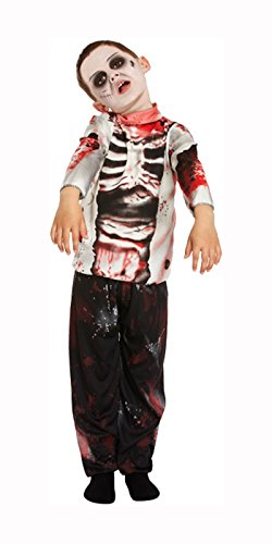 Disfraz Zombie Infantil Niño Zombie Boy Walking Dead Halloween Carnaval Costume Outift Scary Blood - Edad/Talla 7-9 - V00261M
