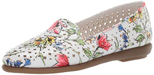 Aerosoles - Women's You Betcha Slip-on Loafer - Casual Comfort Style Flat with Memory Foam Footbed (11W - Bone Floral)