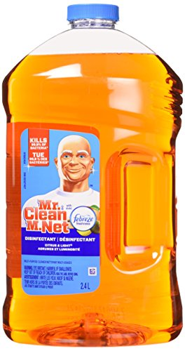 Mr. Clean Liquid All Purpose Antibacterial Cleaner, Febreze Citrus and Light 2.4 L, 81.1537 Ounce (Packaging May Vary)