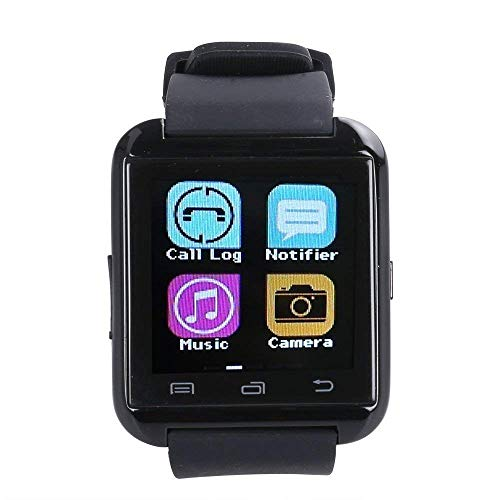 U8 Black Lightweight Bluetooth SmartWatch Handsfree Phone Call Touch Screen Smartphone with Adjustable Strap Multifunction for Pedometer Music Player Sedentary Reminder