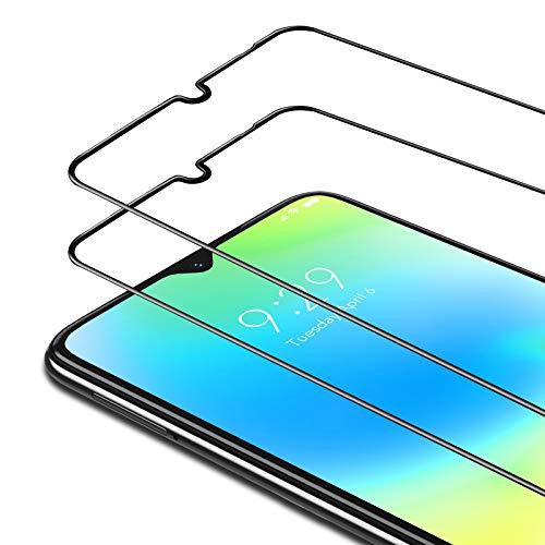 Bewahly Cristal Templado para Xiaomi Redmi Note 8T [2 Piezas], Ultra Fino Completa Cobertura Protector Pantalla, 9H Dureza Alta Definicion Vidrio Templado Sin Burbujas para Redmi Note 8T (Negro)