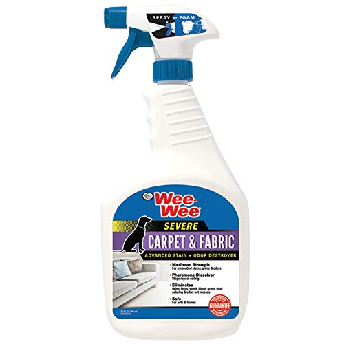 Four Paws Wee-Wee Carpet and Fabric Severe Pet Stain and Odor Destroyer 32 Ounces