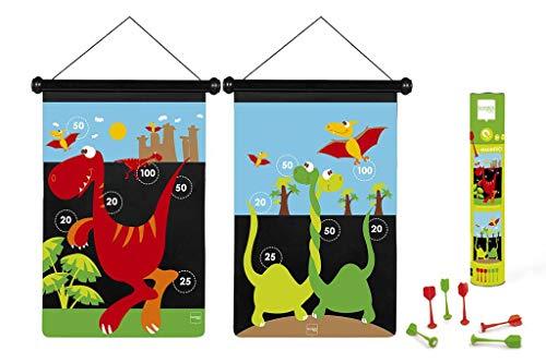 Scratch 276182017 Dartspiel Dino, groß, magnetisch 276182017-Dartspiel für Kinder, Sportspielzeug