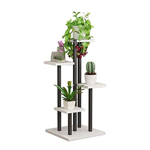 YLongFEI Blumenstand 5 Tier-Blumen-Rack-Pflanze Schwarz-Metallrahmen-Ausstellungsstand Einheit Lagerinnen Pflanzen Töpfe Halter for Wohnzimmer Garten Balkon 16
