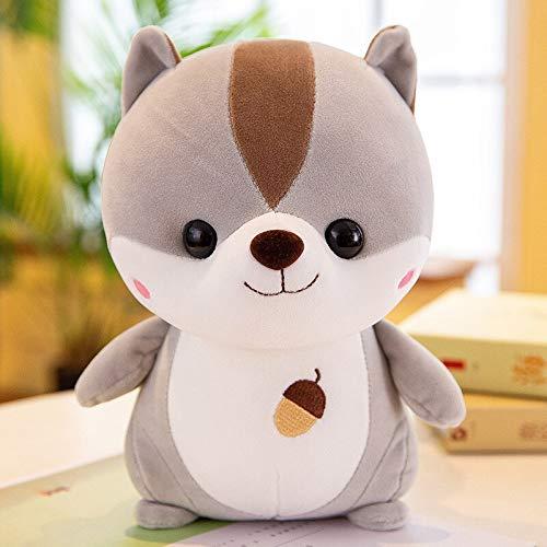 N / A 40cm Plush Squirrel Doll Toy Kids Sleeping Back Cushion Cute Stuffed Hamster Baby Accompany Doll Xmas Gift 40cm