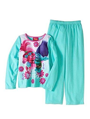 Trolls Girls Poppy & Branch 2pc Fleece Pajamas You Make Me Happy (10/12)