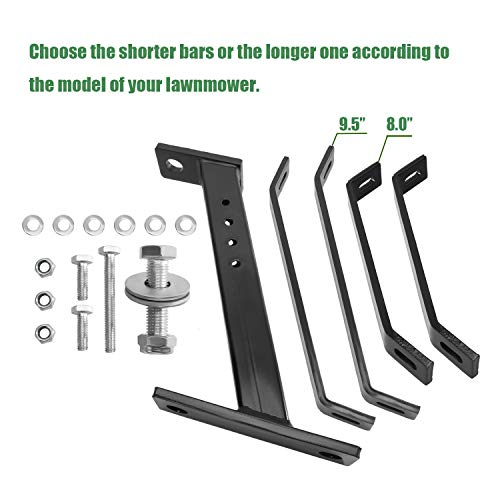 Eapele Trailer Hitch for Lawn Mower, Garden Tractor Trailer Hitch, Solid Iron Construction, Strong Enough to Tow Everything