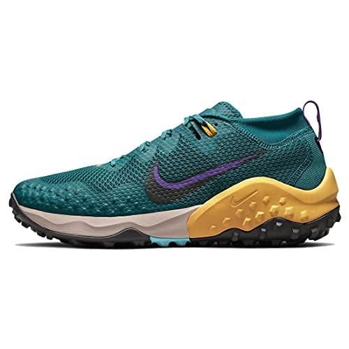 Nike Wildhorse 7, Zapatillas para Correr Hombre, Mystic Teal/dk Smoke Grey-Turquoise Blue-Univ Gold-Wild Berry-Fossil Stone, 43 EU