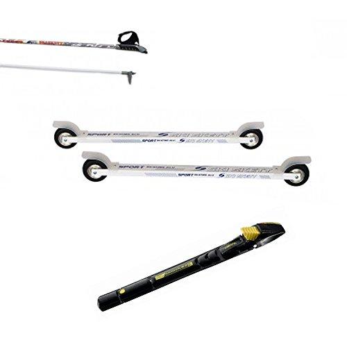 Ski Skett - Juego de Rodillos de esquí (uniones y Postes de salomón Profil SK)