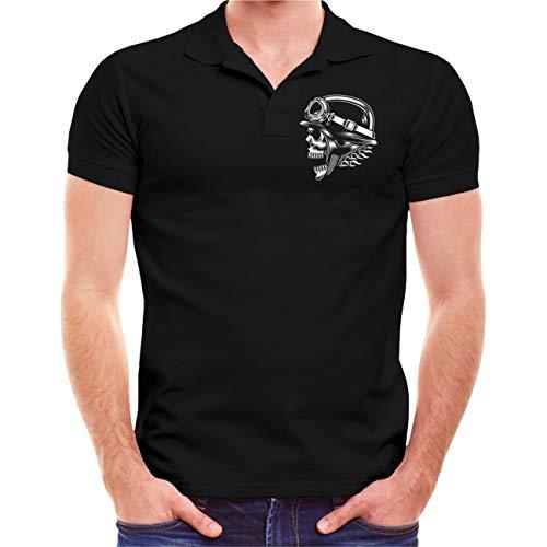Männer und Herren Polo Shirt Triker Unterschätze Niemals einen Alten Mann auf einem Trike (mit Rückendruck) Größe S - 5XL