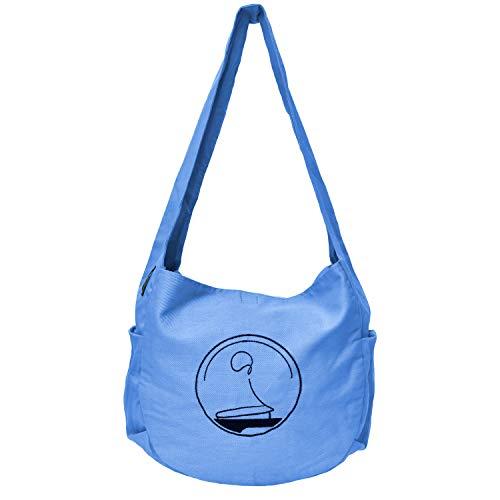 KlarGeist Muli - Bolso bandolera para cojín de meditación, color azul claro