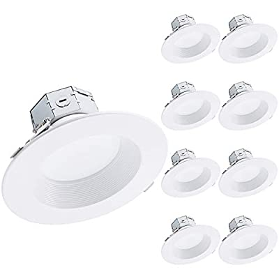 TORCHSTAR 8-Pack 6 Inch LED Recessed Light Canless with Integrated Junction Box, 15W(120W Eqv.), 1125lm Dimmable, JA8, ETL & Energy Star Listed, Air Tight & IC Rated, Wet Location, 5000K Daylight