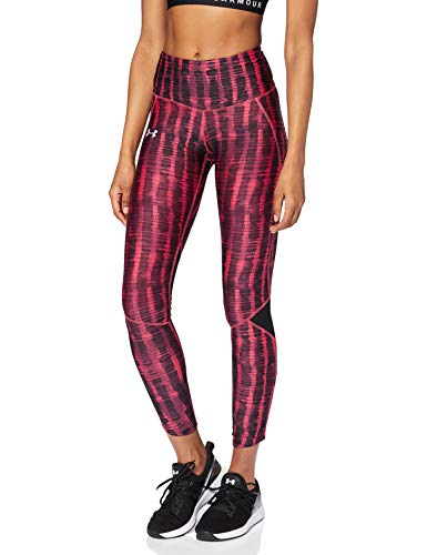 Under Armour Armour Fly Fast Printed Tight Leggings, Mujer, Rosa (Impulse Pink/Black/Reflective 671), S