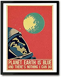 Pearl Shine Space Oddity David Bowie Inspired Art Print Gifts for Lovers Poster Poster Home Art Wall Posters [No Framed]